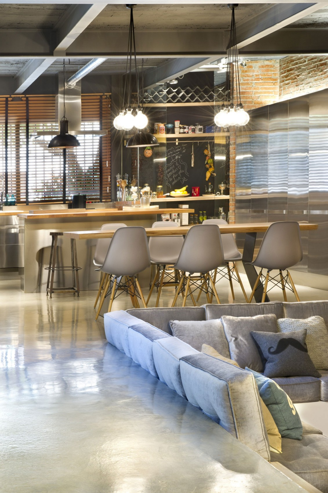 Stunning Industrial Loft Exuding Freshness And Style