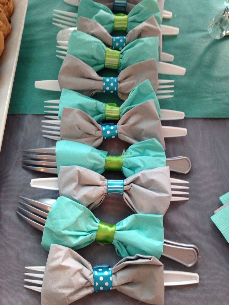 BABY SHOWER DECORATIONS FOR BOYS. Bow Tie Table Decorations.