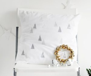 Festive Winter Tree Print Cushion