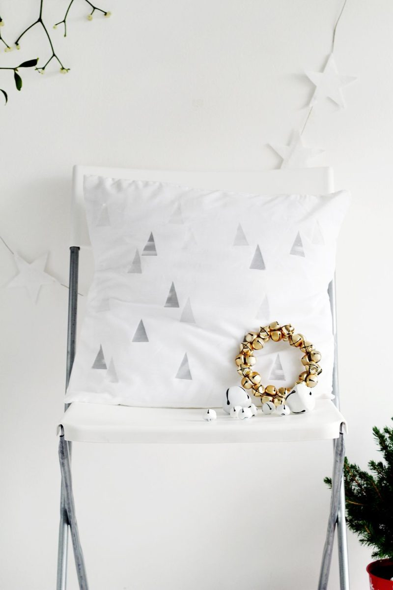How To Use Transfer Paper –  DIY Festive Winter Tree Print Cushion