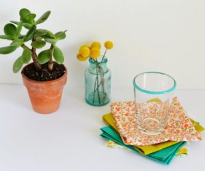 DIY No Sew Fabric Napkins