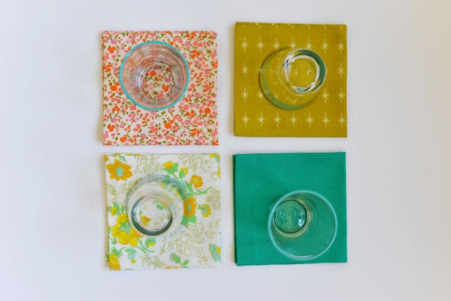 DIY No Sew Fabric Napkins