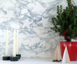 Festive Felted Christmas Star Banner