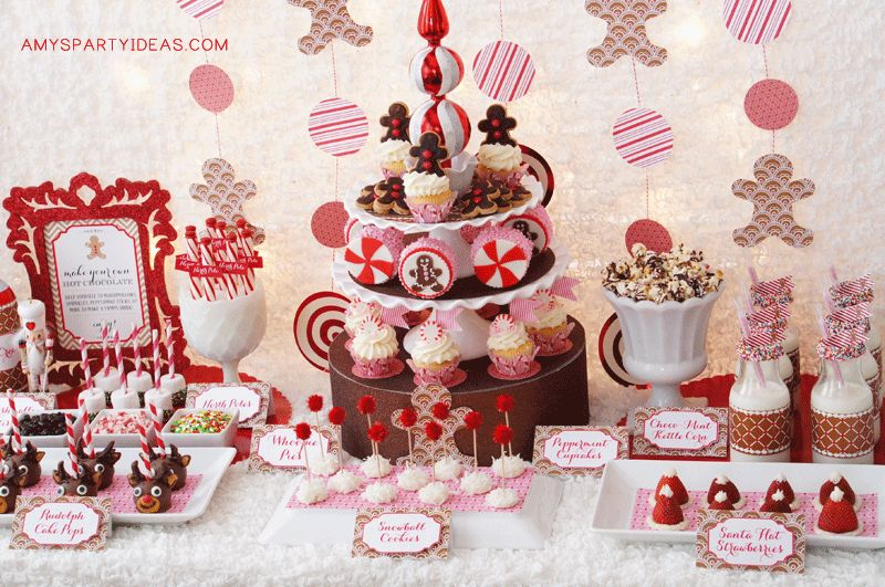 gingerbread party theme - Childrens Christmas Party Decoration Ideas