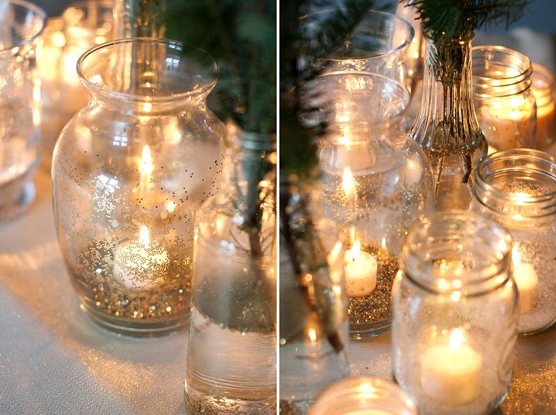 glitter glass luminaries