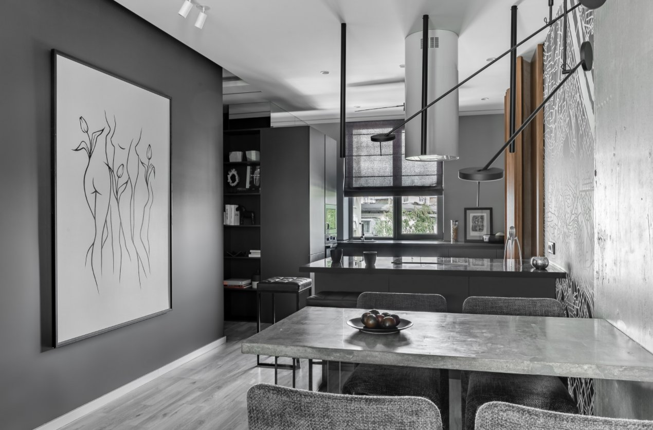 Use Grays and Neutrals to Create a Black and White Effect