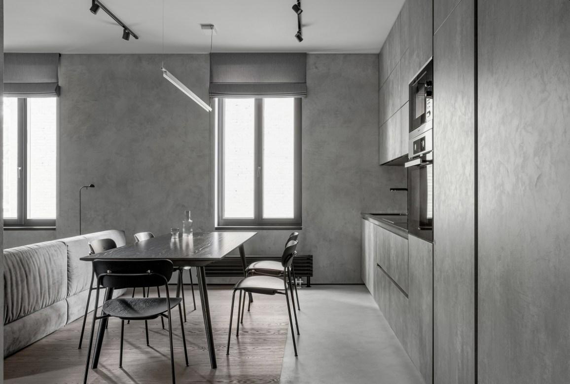 Focus on Textures with Light Gray Kitchen Fixtures