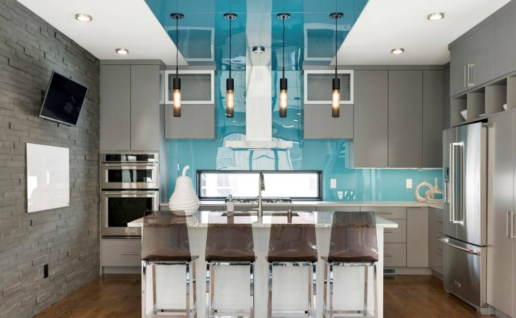 Pair Gray Cabinets with Bold Accent Colors