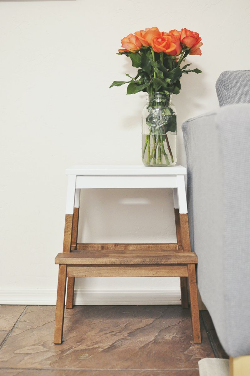 Diy makeovers that transform the ikea bekvam step stool for Table salle manger ikea