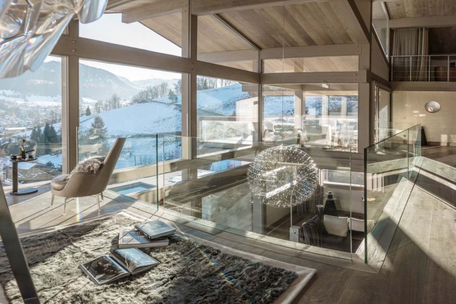 luxury chalet turns the french alps into the perfect ski retreat. Black Bedroom Furniture Sets. Home Design Ideas
