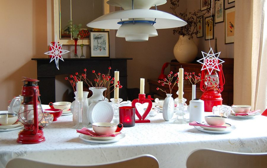 christmas dinner party setting - Christmas Party Decorations