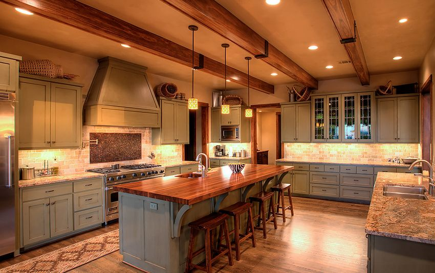Stylish Ways To Work With Gray Kitchen Cabinets - Brown and grey kitchen designs