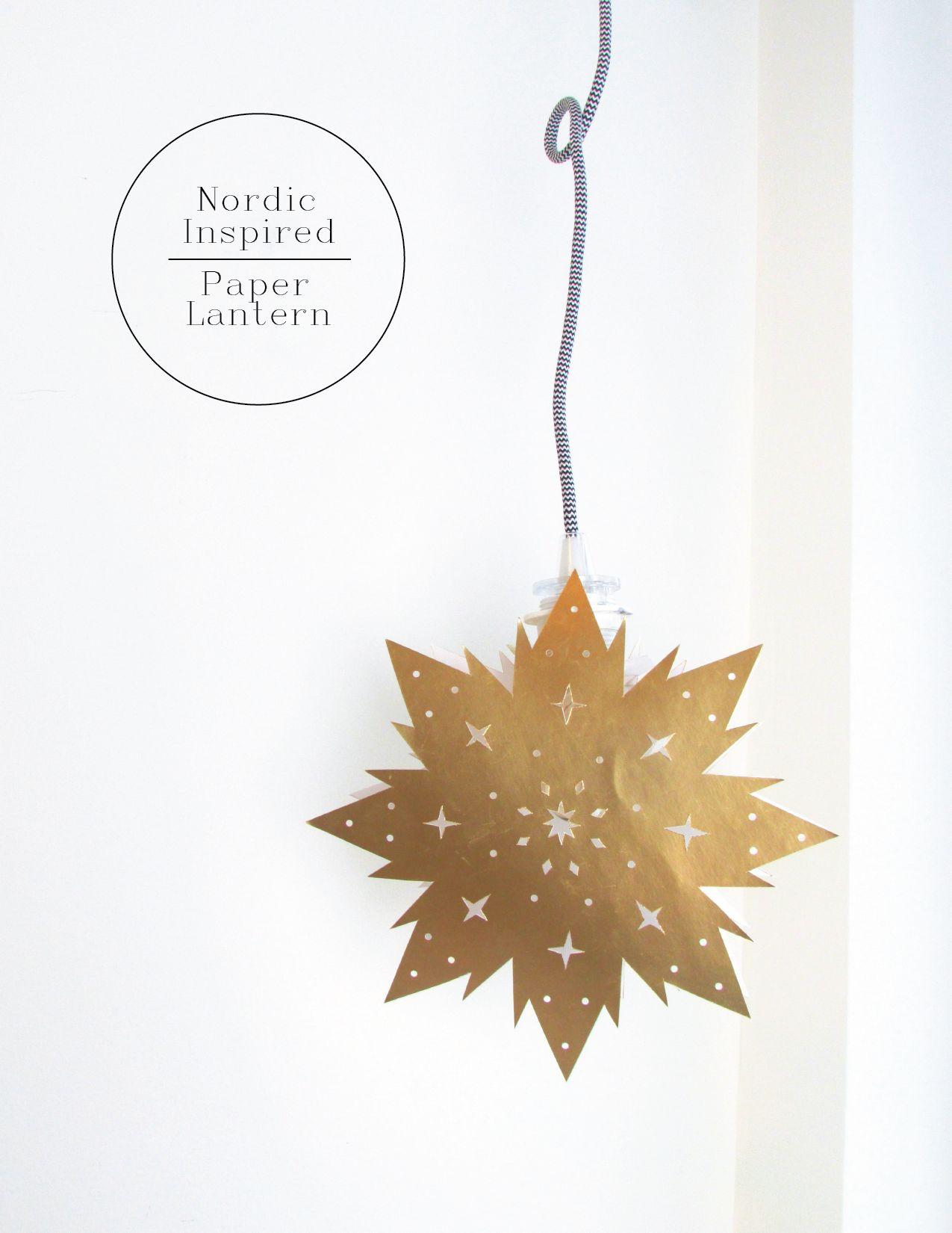 Nordic Inspired Paper Star Lantern
