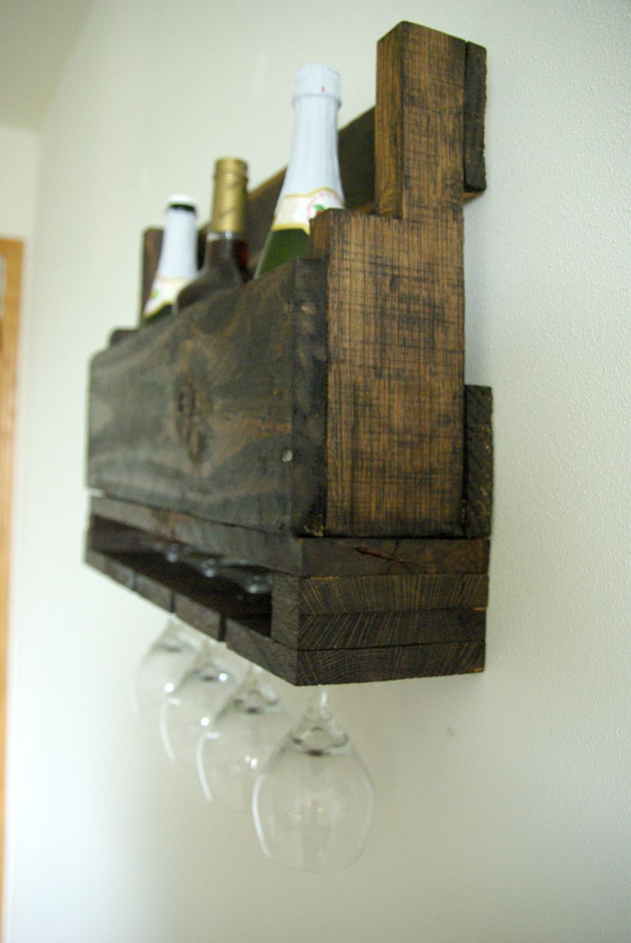 Peachy Diy Wall Mounted Wine Racks Made Of Pallets Download Free Architecture Designs Photstoregrimeyleaguecom
