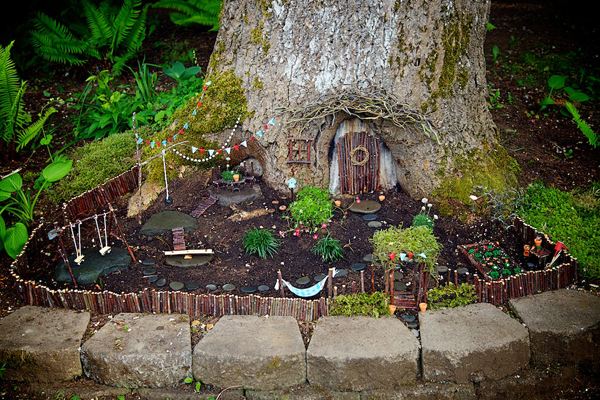 View In Gallery. Design The Fairy Garden Around A Tree.