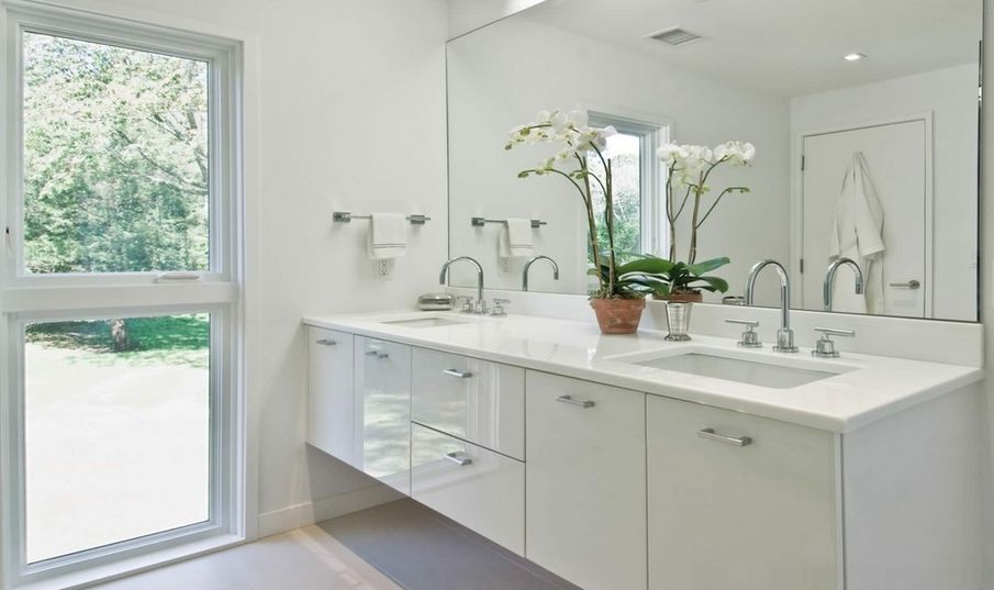 . White Bathrooms Can Be Interesting Too   Fresh Design Ideas