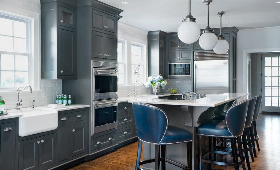 gray kitchen designs 20 stylish ways to work with gray kitchen cabinets 1323