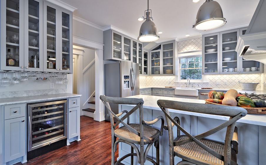 Genial 20 Stylish Ways To Work With Gray Kitchen Cabinets