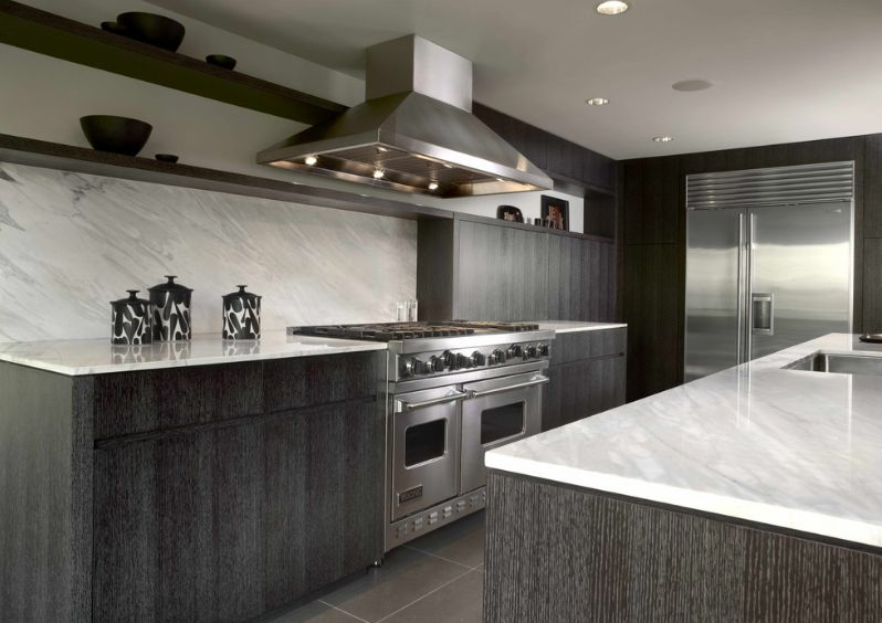 Stylish Ways To Work With Gray Kitchen Cabinets - Black and grey kitchen decor