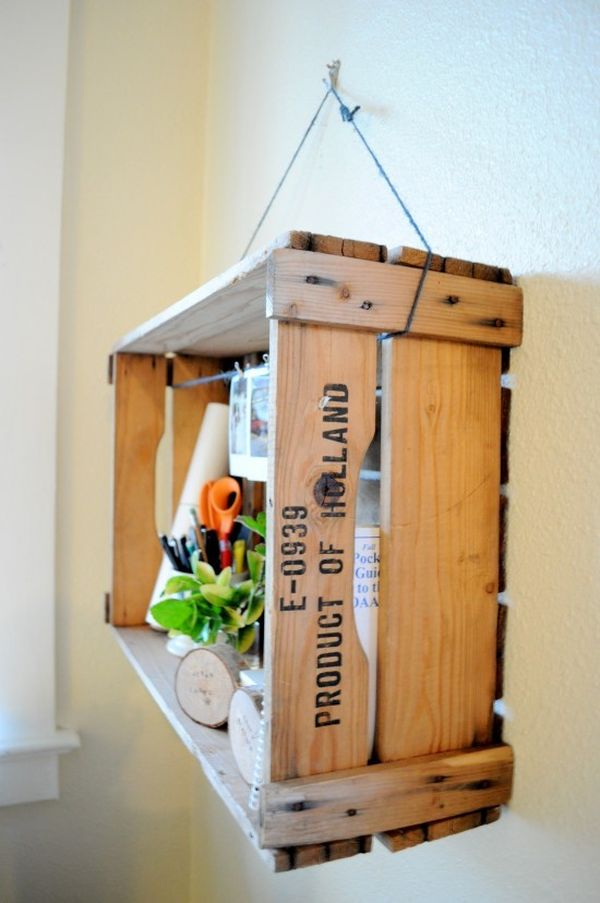 How to furnish your home with repurposed wine crates for Small wine crates