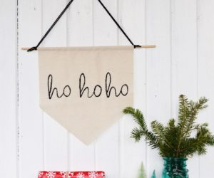 DIY Simple Christmas Holiday Banner