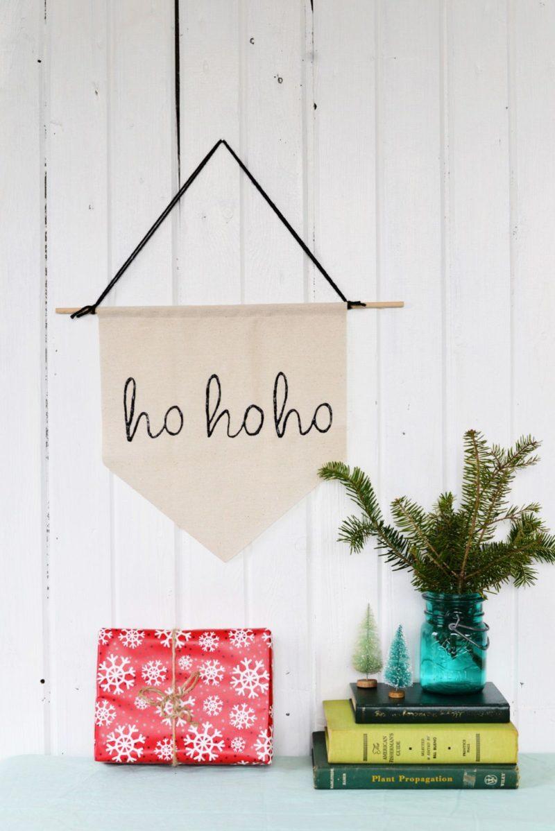 DIY Simple Christmas Holiday Banner