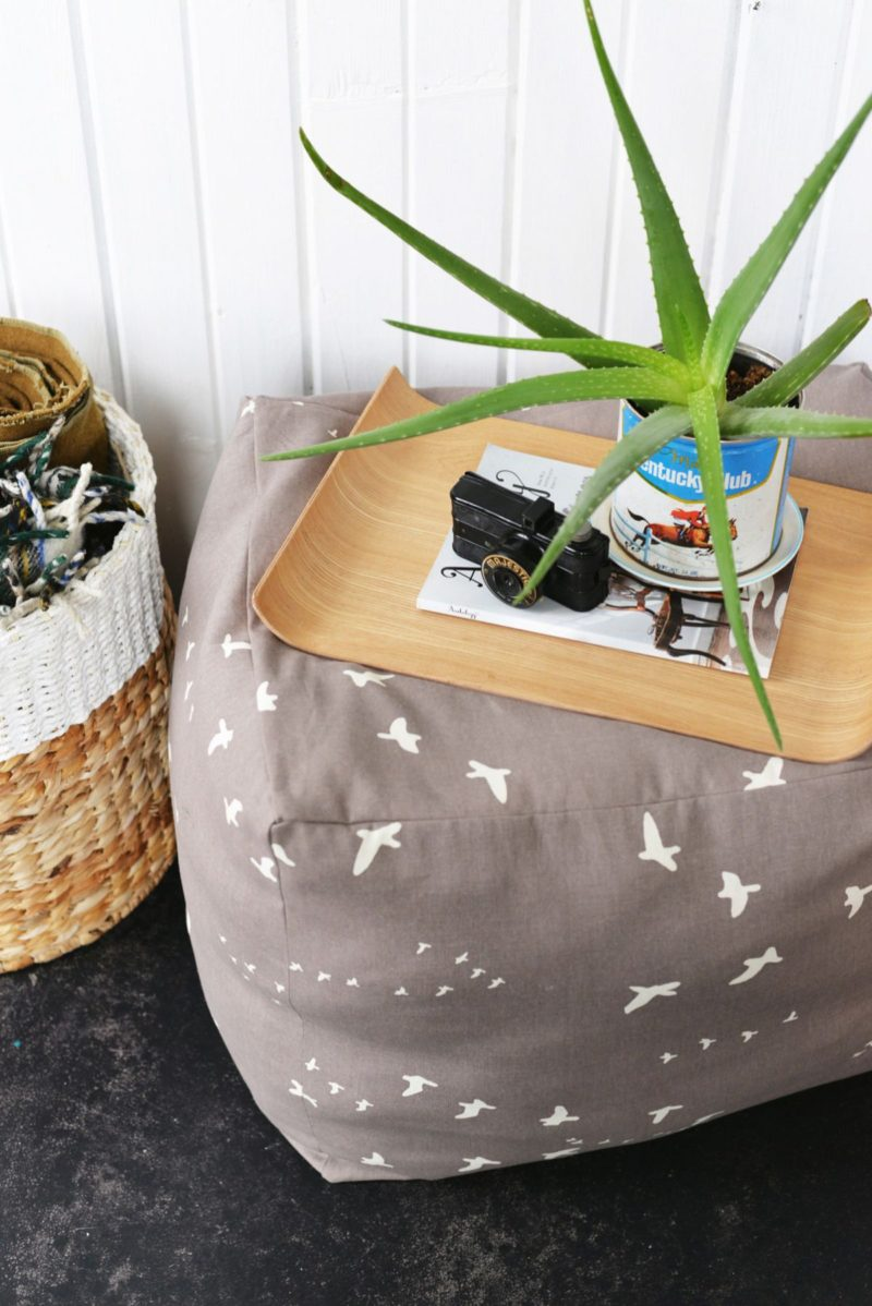 DIY Pouf Ottoman Table – How To Make An Easy Extra Seating