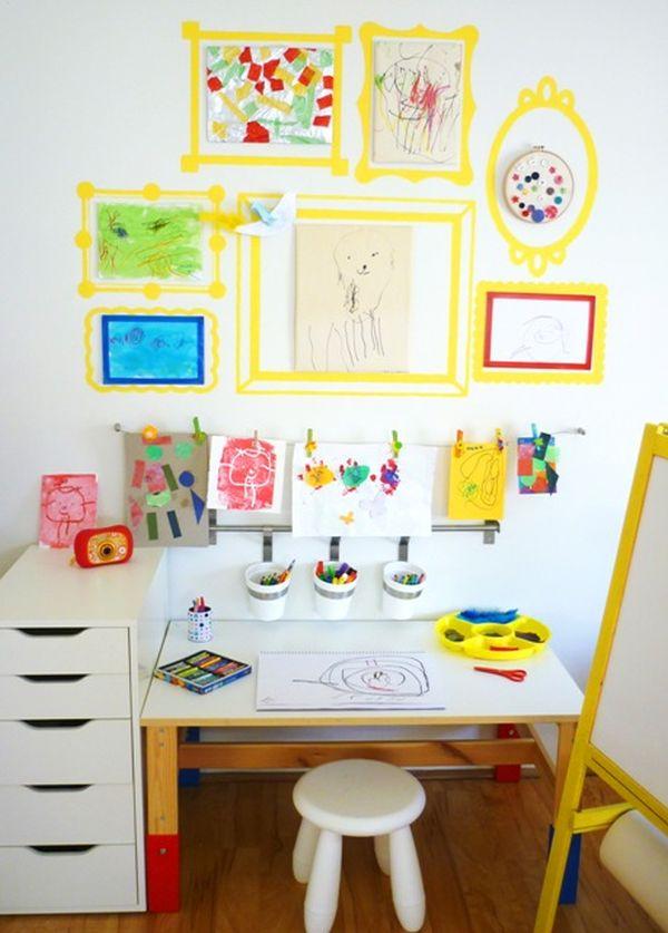 wall design for kids.  Trendy Desk Designs For The Children s Rooms