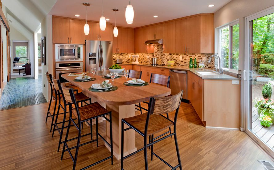 How to clean laminate wood floors without doing damage for Best way to wash kitchen floor