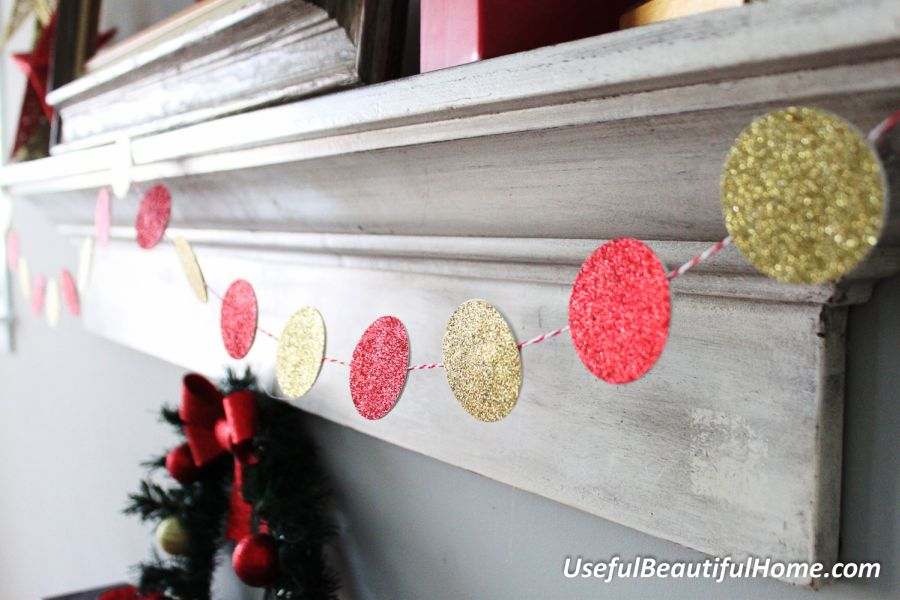 Diy Christmas Party Ideas Part - 39: Glitter Paper Garland.