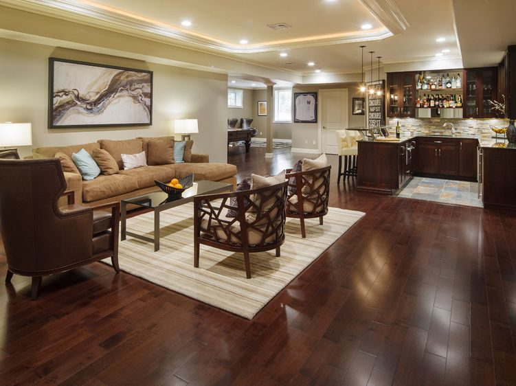 How to clean laminate wood floors without doing damage for Living room floor designs pictures