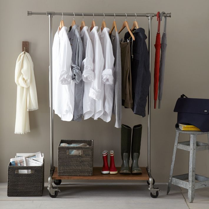 pipeline clothing rack - Rolling Garment Racks And Wardrobes
