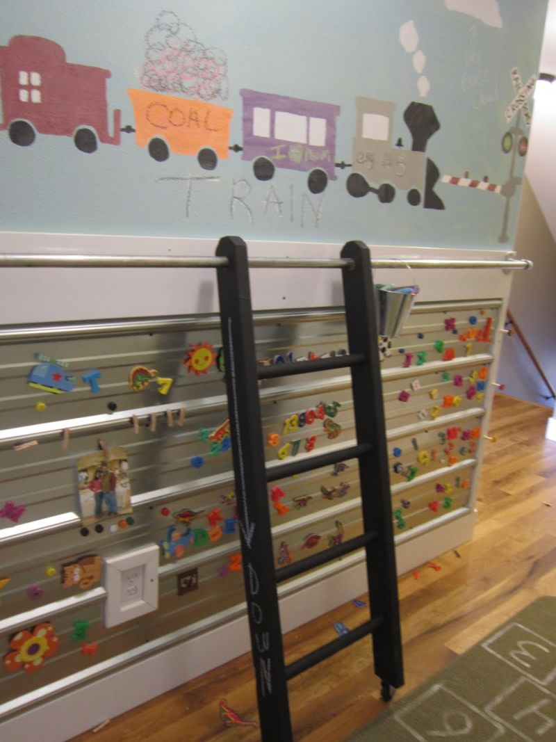 Kids Bedroom Library inspiring ways of using library ladders in the house