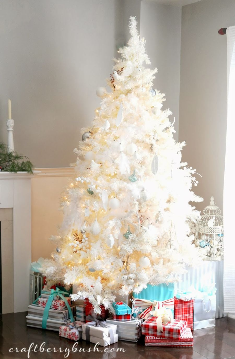 Last minute tree decorating ideas for an enchanting christmas for White xmas decorations