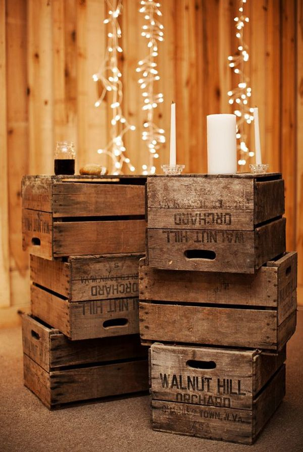 Wine Box Decor Captivating How To Furnish Your Home With Repurposed Wine Crates Inspiration Design