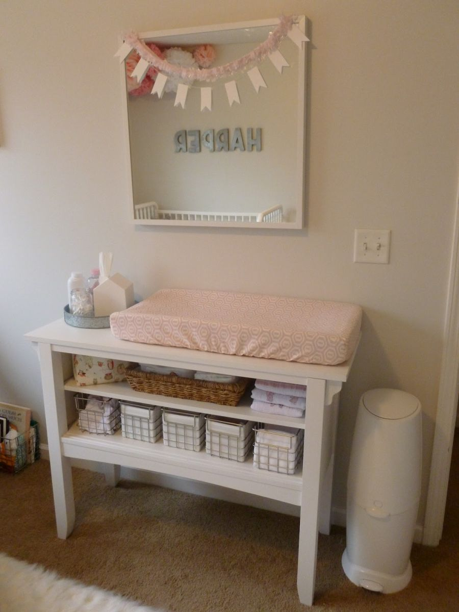 girl and baby pink wall accessories paper nursery dresser photo hghewd crib stock