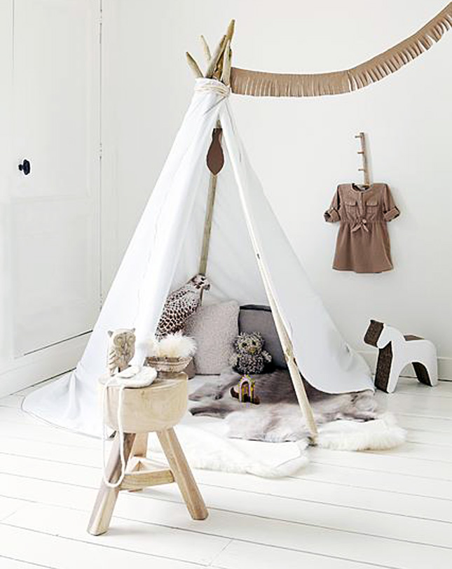 19. Total Teepee Time.  sc 1 st  Homedit & Creative Kids Spaces: From Hiding Spots to Bedroom Nooks