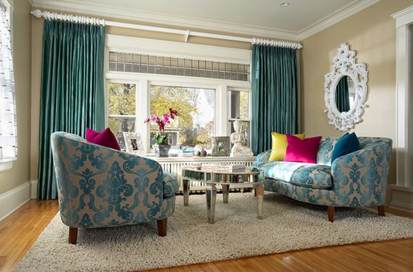 Our Current Obsession – Turquoise Curtains