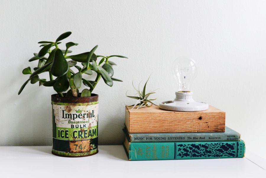 Diy Wooden Block Desk Lamp