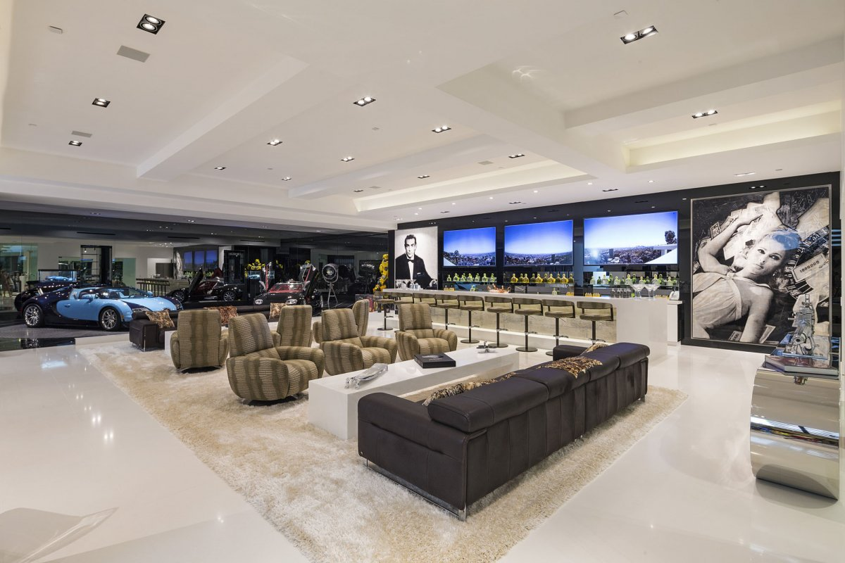 Beverly-Hills-mansion-basement-man-cave