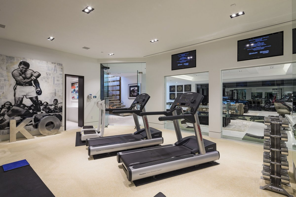 Beverly-Hills-mansion-home-gym