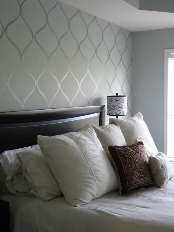 Wallpapers For Walls Living Room Part - 23: DIY Faux Wallpaper Accent Wall.