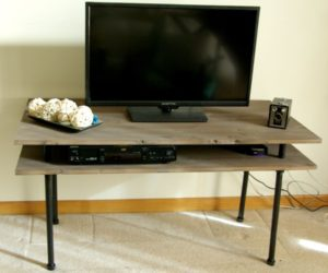 DIY TV Stand – A Blend Of Industrial Rustic And Modern