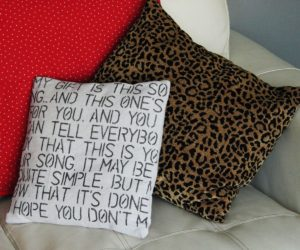 Simple DIY Valentine Gift: Farmhouse Text Throw Pillow