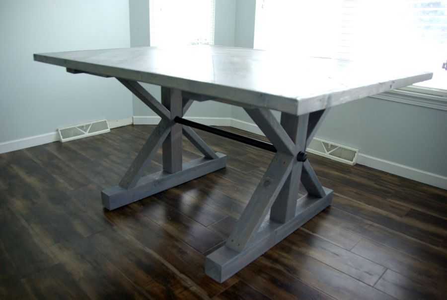 DIY A Farmhouse Table - Modernizing the Traditional