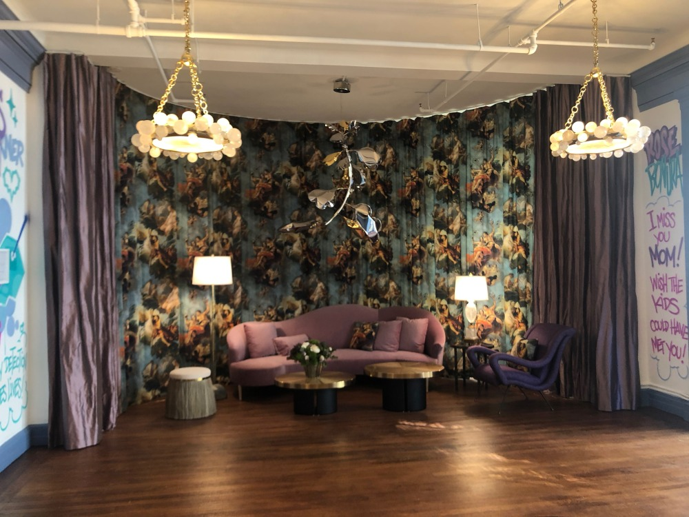 Drapes to create an accent wall