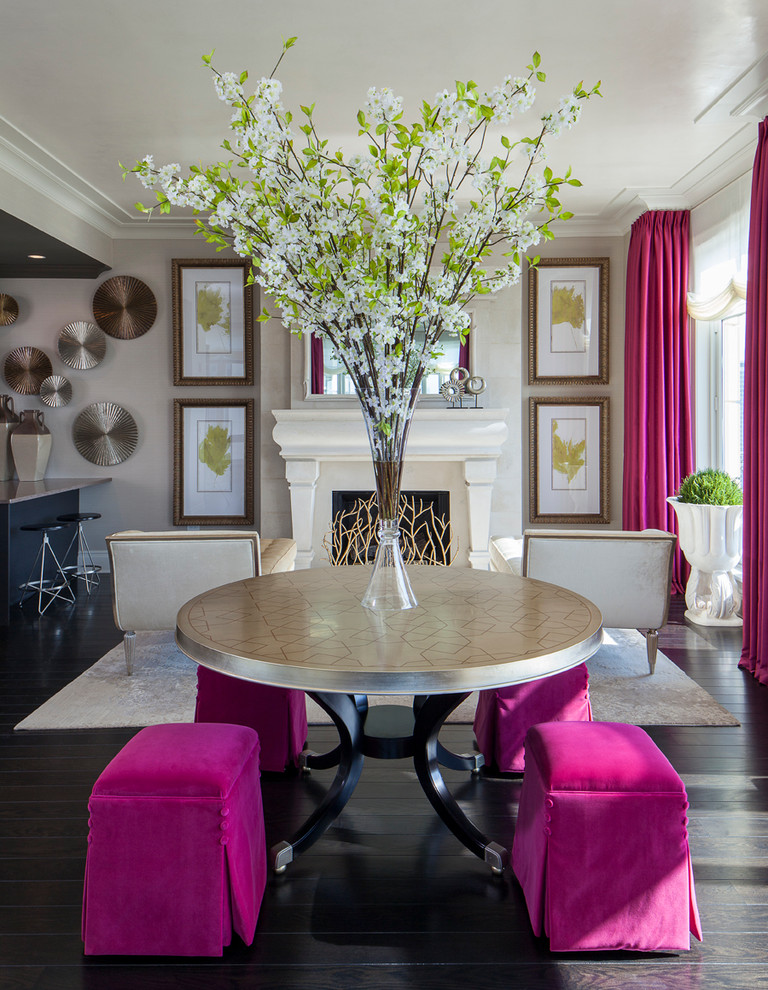 20 of the best colors to pair with black or white for Black n white dining rooms
