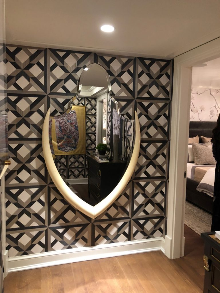 Unique Mirror to create a cool accent wall