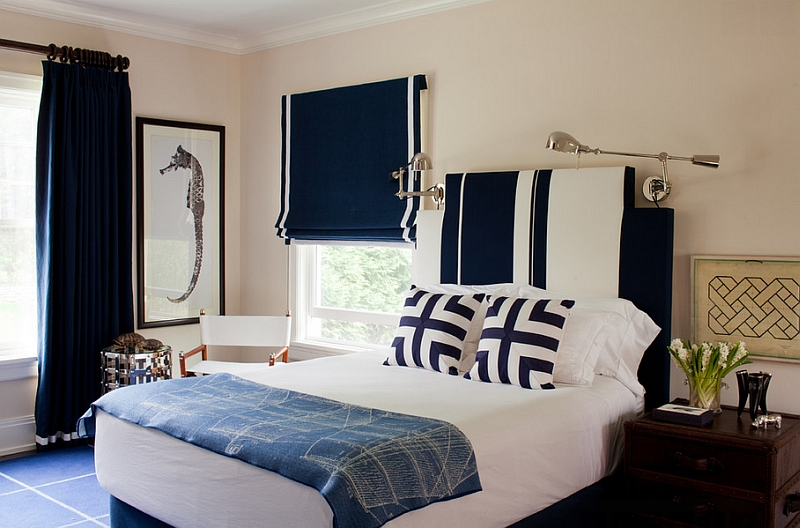 cream and white bedroom. 7  Navy 20 of the Best Colors to Pair with Black or White