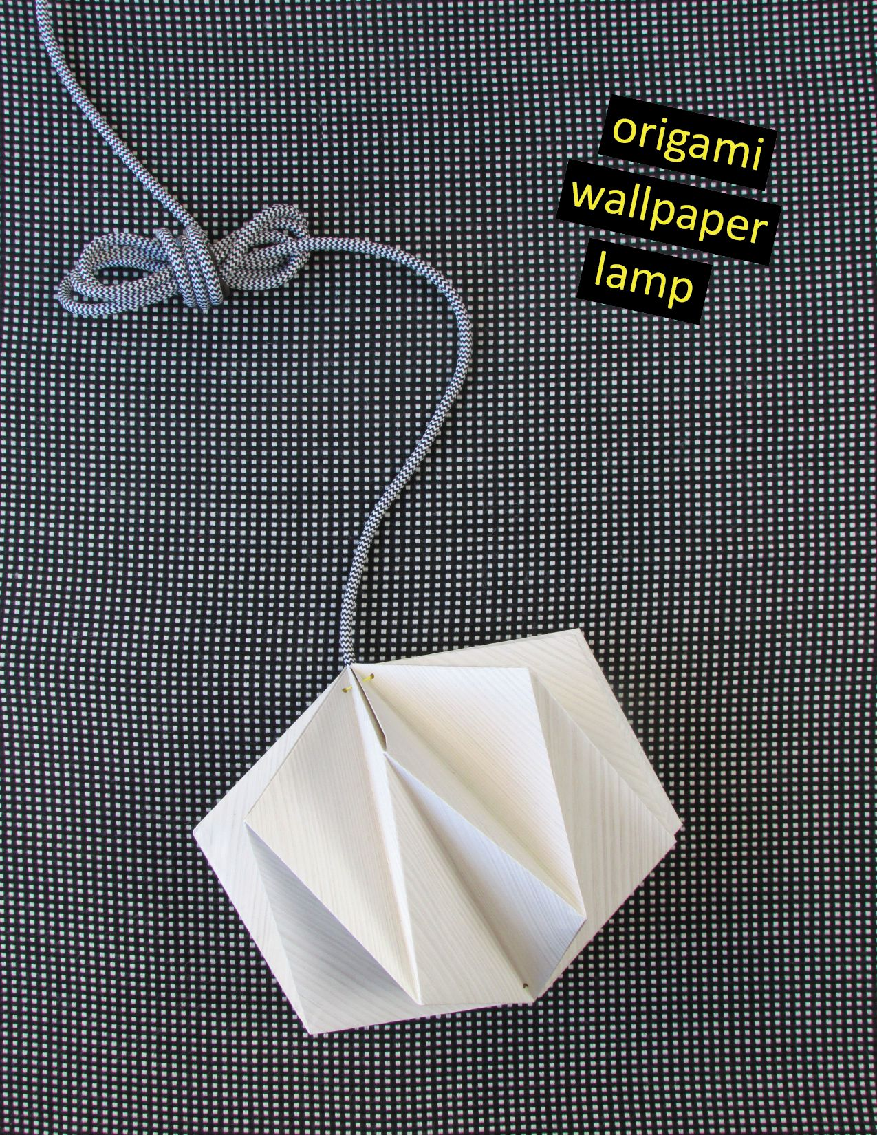 Origami lampshade made from wallpaper view in gallery aloadofball